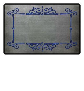 Vintage Ornaments Frame - blau 2
