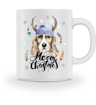 ☛ Merry Christmas · Boho Dog #5BT