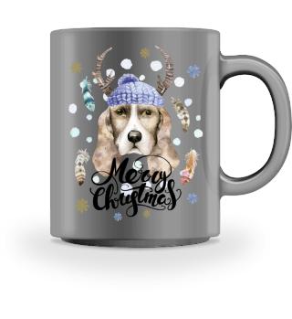 ☛ Merry Christmas · Boho Dog #5BT