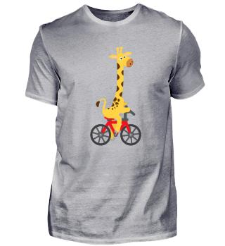 Kindermotiv: Giraffe fährt auf einem Rad