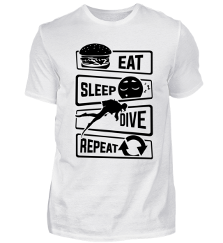Eat Sleep Dive Repeat - Diver Water