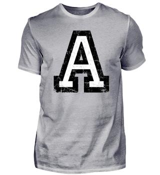 Buchstabe A T-Shirts mit Buchstaben