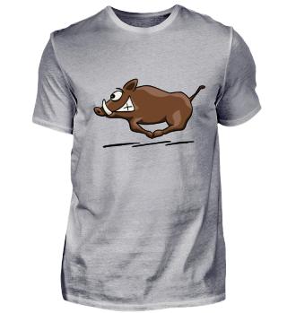 rennende Wildsau Wildschwein