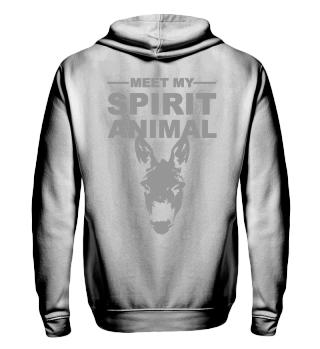 Meet Spirit Animal - donkey - grey