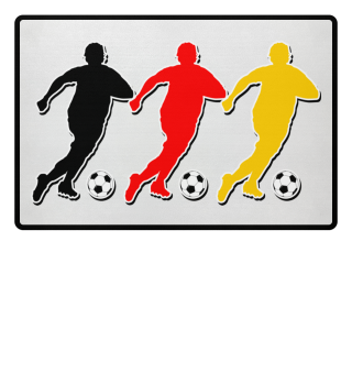 Fussball Spieler Mob schwarz rot gold 2a