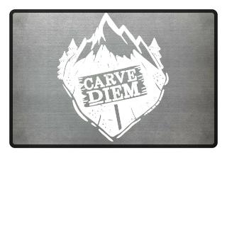 Ski Carve Diem Funny Gift Skiing Snow