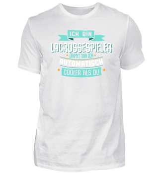 Cooler Lacrossespieler, lustiges Shirt.