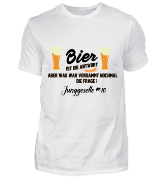 JGA Bier - Junggeselle #10