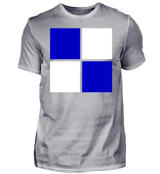 weiß blaues Motiv - Trikot Logo