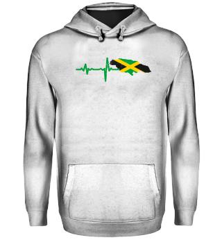 Heartbeat Jamaica silhouette gift