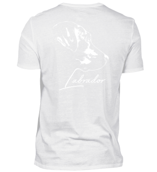 LABRADOR Portrait Hund Backprint