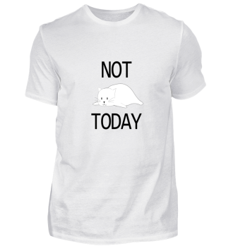 Lazy Cat Not Today - Animal Gift