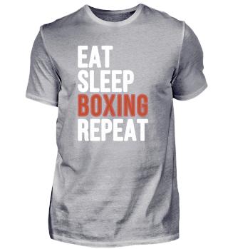 Eat Sleep Boxing Repeat Funny Gift