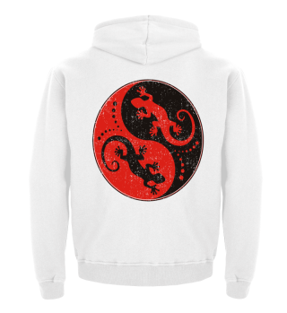 ♥ Yin Yang Geckos - Black Red