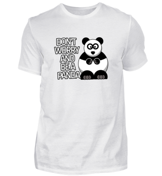 Don't worry and be a panda sweet gift