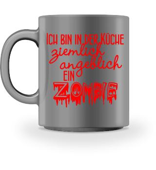 ★ Ich bin ein ZOMBIE - Feuer Rot