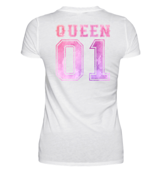Queen 01 Partnershirt Couple Shirt Love Partner partnerlook Gift Birthday Christmas Geschenk Valentinstag