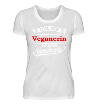 Veganerin Vegan Veganismus Superkräfte