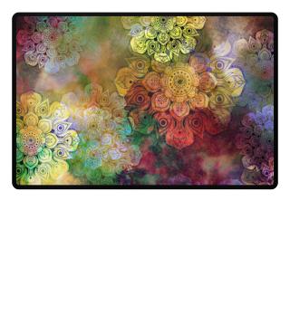 ★ Watercolor Mandala Grunge Pattern 1