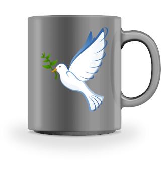 Tasse mit weisser Taube
