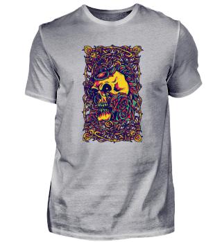 Colourful Spaghetti Death Skull