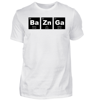 Chemical Elements BaZnGa white