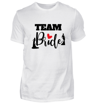 Team Bride Wedding Heart Gift idea