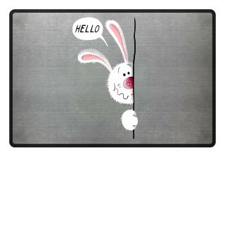Cute Hello Bunny I Rabbit Pet Kids Baby