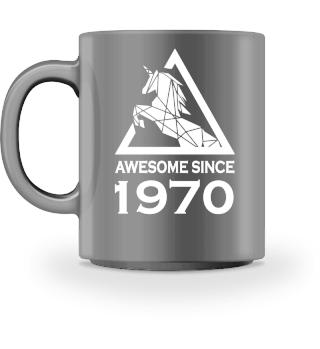 Einhorn 1970 Geburtstag Tasse Geschenk