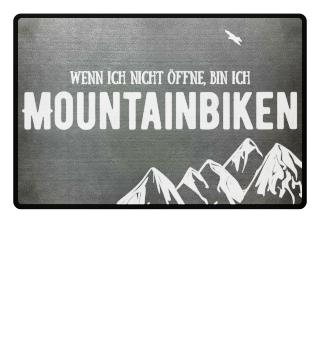 Ich bin mountainbiken