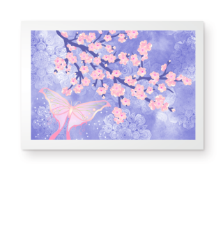 ★ Cherry Blossoms Butterfly Mandala 2a