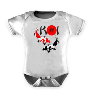 KOI - Nishikigoi Bekko white red black 1