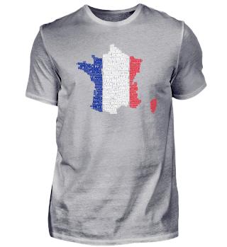 Frankreich-Shirt | WordCloud