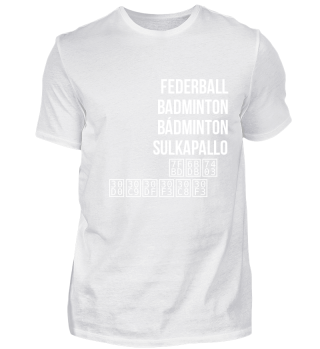 Federball, Badminton