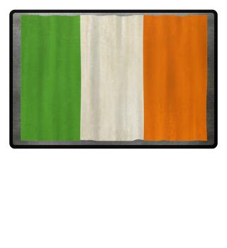 ★ National flag of Ireland - grunge