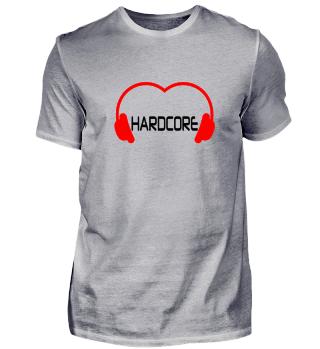 Love Hardcore Music Shirt Black