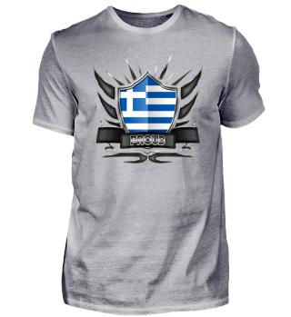 Greece Proud Wappen Flag 012