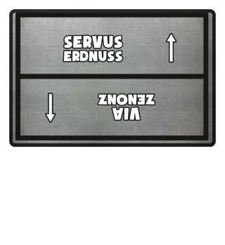 Servus Erdnuss Fußmatte hell