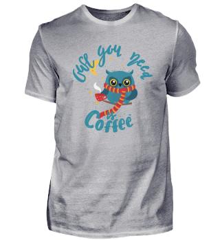 Coffee owl cute animal nocturnal
