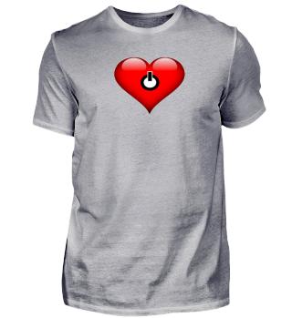 Power Off Herz Geschenk Idee