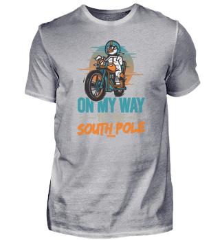 Pinguin Motorrad Biker Südpol Kinder