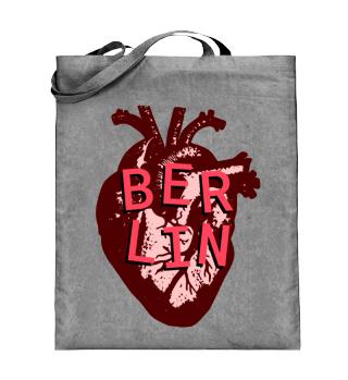 Berlin Heart Canvas Tote Bag