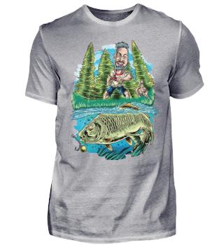 Angeln Angler Karpfen Karpfenfisch
