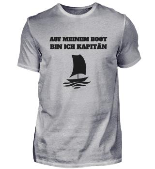 Auf meinem Boot bin ich Kapitän