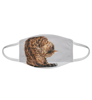 Gesichtsmaske mit Katzenmotiv 20.3