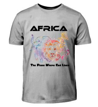 Afrika Tshirt Kinder/ Africa with God
