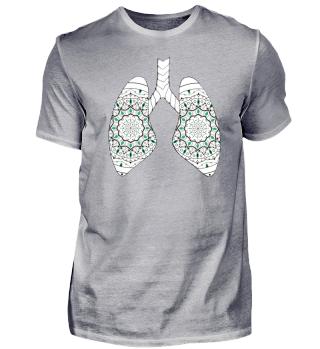 Lungen Mandala/Muster weiß