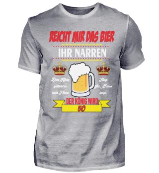 50. Geburtstag T-Shirt König