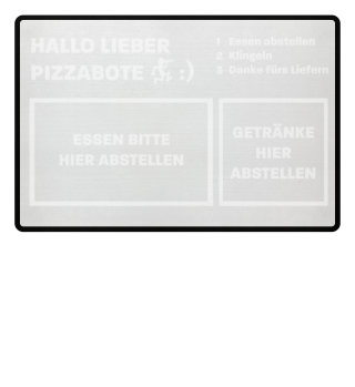 Pizzabote Fußmatte Essen & Getränke