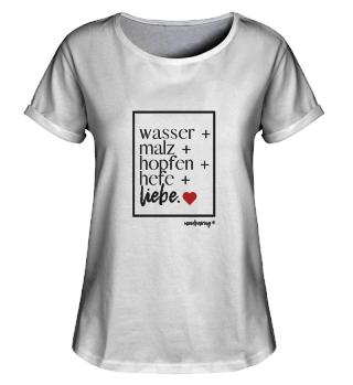 damenshirt the essentials schwarze schri
